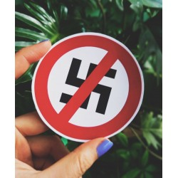Anti nazism symbol sticker antifascist