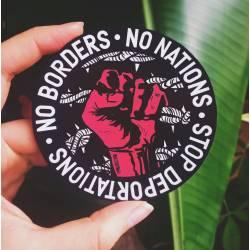 No borders no nations stop deportations sticker