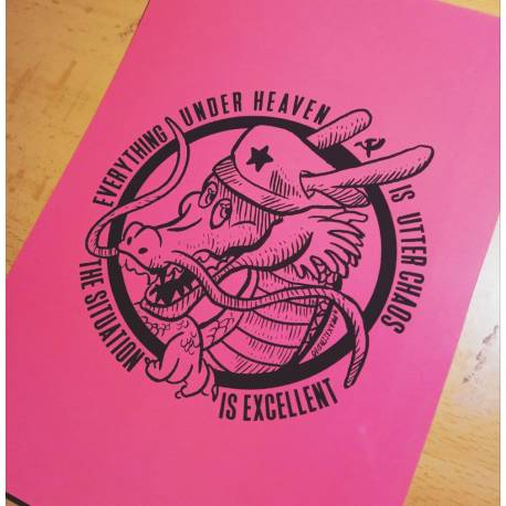Everything under heaven is in utter chaos the situation is excellent maoist postcard
