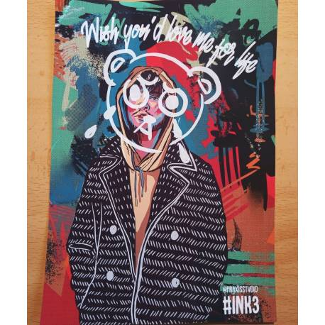 Bearface Brockhampton postcard