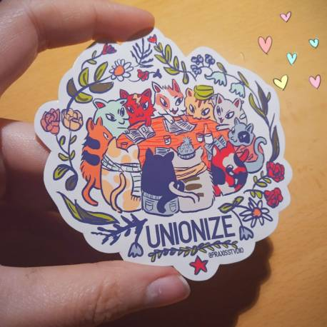 Unionize kitties sticker