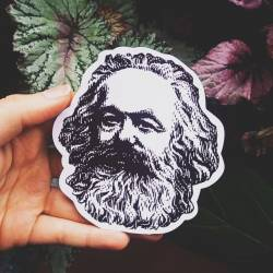 Marx bust sticker