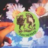 Fuck the police dancing frogs sticker acab