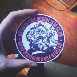Artists for socialism club leftist sticker