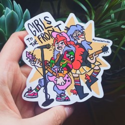 Girls to the front punk sticker