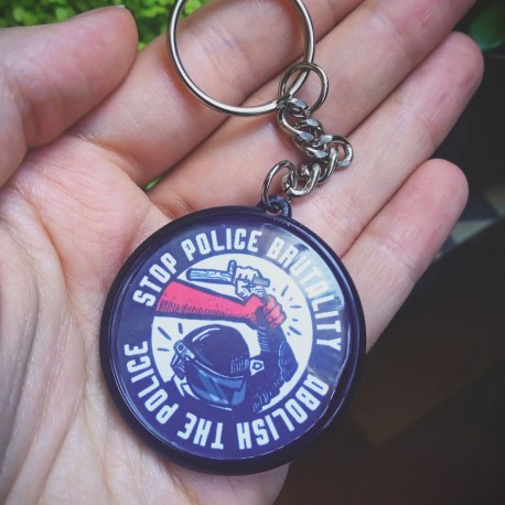 Stop police brutality, abolish the police keychain
