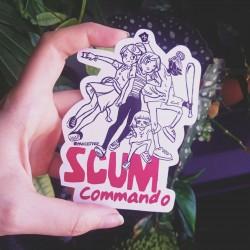 Scum commando girls sticker