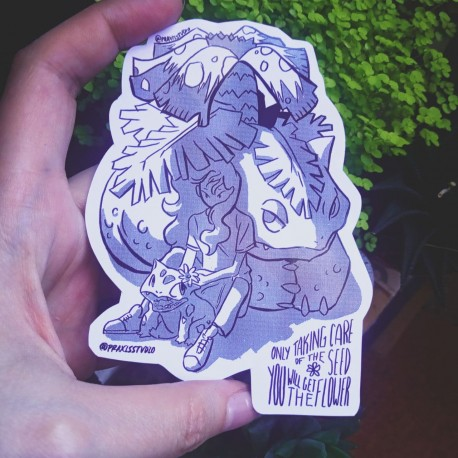 Venusaur bulbasaur take care of the seed sticker
