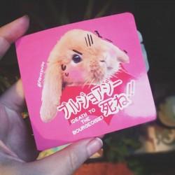 Death to the bourgeoisie rabbit bunny sticker