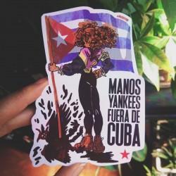 Hands off Cuba sticker