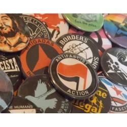 Leftist badge pack bundle vegan feminist ecologist antifascist anticapitalist buttons