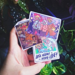 Less work, more life sticker