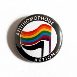 Anti homophobe Action badge pin button chapa