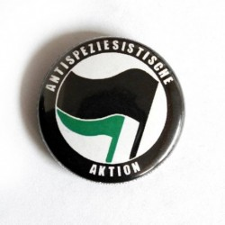 Anti speziesistische aktion vegan badge pin button chapa